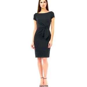 JS Collection Stretch Crepe Side Bow Dress